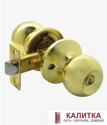 Ручка-кноб ASSOL/MIX ЗШ-01 ключ-фиксатор золото матовое