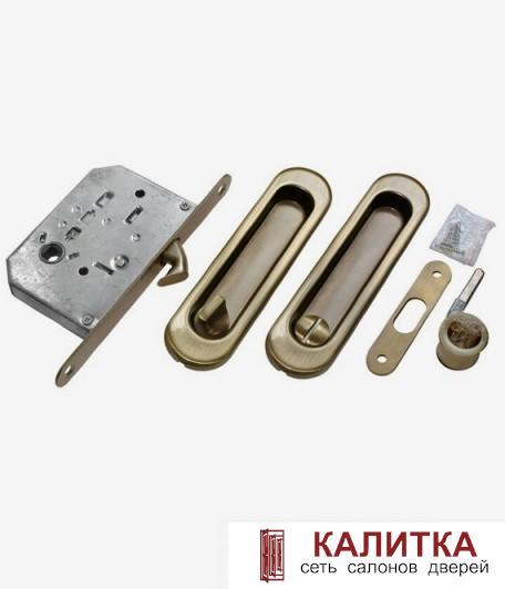 Ручки для раздвижных дверей (овал) MHS 150 WC с заверткой AB бронза (2 шт)