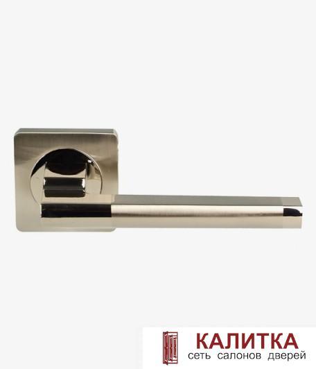 СПЕЦ Ручка дверная  на квадратном основании AL-02-517 (CP+SN)/CP (хром+никель/хром) TD185203