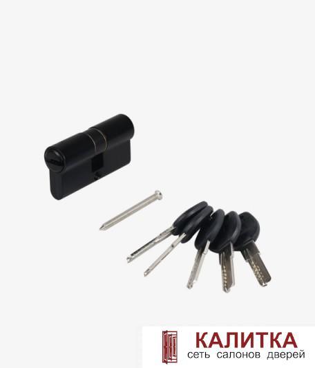 Цилиндр АЛЛЮР ключ-ключ HD F 60-5K (25*10*25) BLACK черный перф.ключ