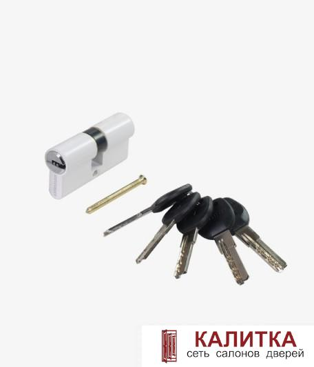 Цилиндр АЛЛЮР ключ-ключ HD F 60-5K (25*10*25) WHITE белый перф.ключ