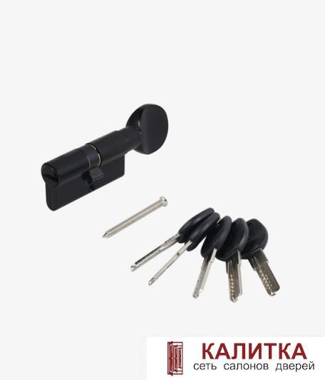 Цилиндр АЛЛЮР ключ-завертка HD FG 60-5K (25*10*25) BLACK черный перф.ключ