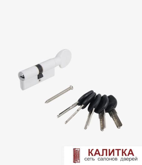 Цилиндр АЛЛЮР ключ-завертка HD FG 60-5K (25*10*25) WHITE белый перф.ключ