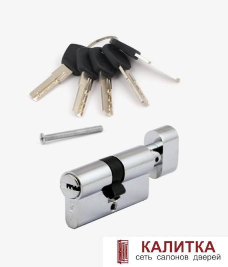 Цилиндр  АМ (60)-С СR ключ-завертка хром