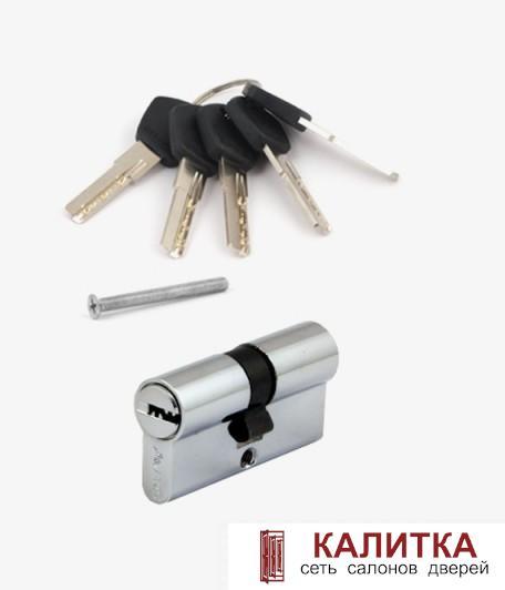 Цилиндр  ключ-ключ АМ 60 (25*10*25) CR хром