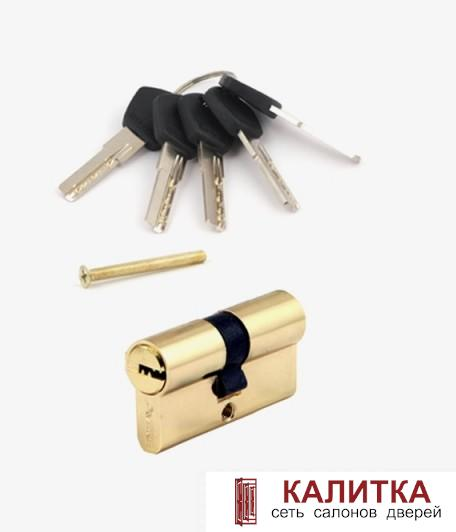 Цилиндр  ключ-ключ АМ 60 (25*10*25) G золото