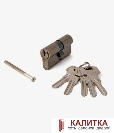 Цилиндр  ключ-ключ ZC 60 (25*10*25) AB бронза