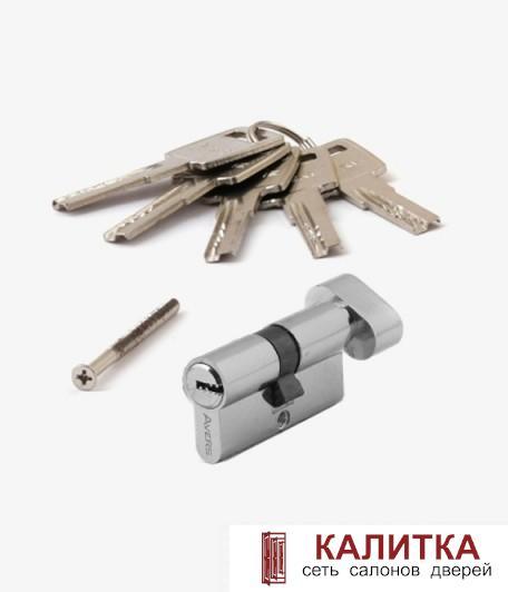 Цилиндр  ZM (60)-С СR ключ-завертка хром