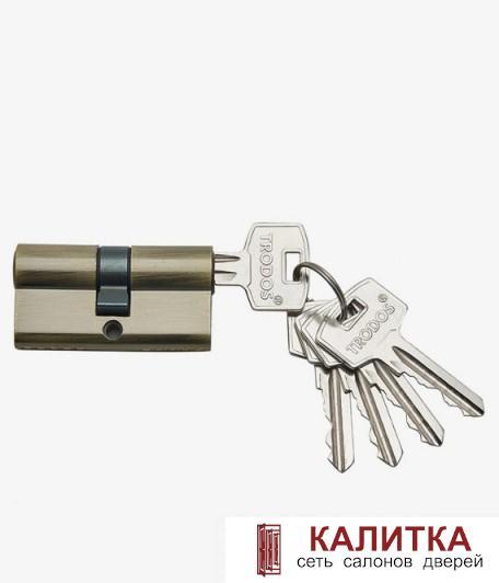 Цилиндр  ключ-ключ ЦМ 60 (25*10*25)-3K бронза