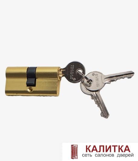 Цилиндр  ключ-ключ ЦМ 60 (25*10*25)-3K PB золото