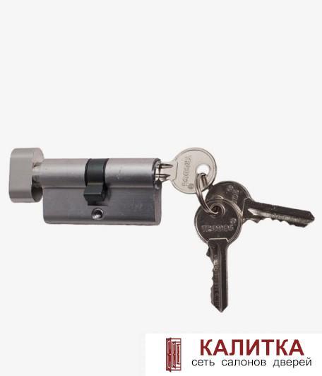 Цилиндр  ключ-завертка ЦМВ 60 (25*10*25)-ЗК CP хром