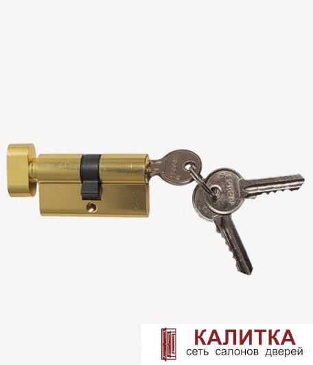 Цилиндр  ключ-завертка ЦМВ 60 (25*10*25)-ЗК PB золото