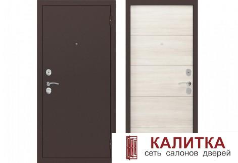 Вектор Антик медный / Лиственница беленая 860х2050 левая