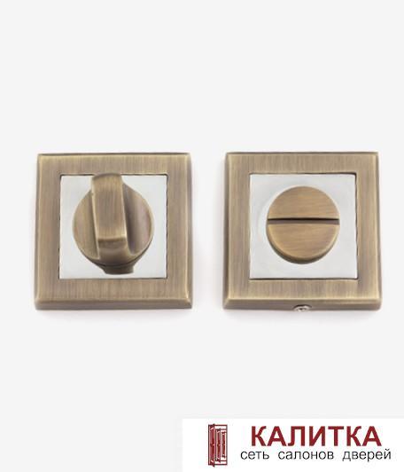 Завертка сантехническая  на квадратном основании Windrose WC 1803-МВ  матовая бронза