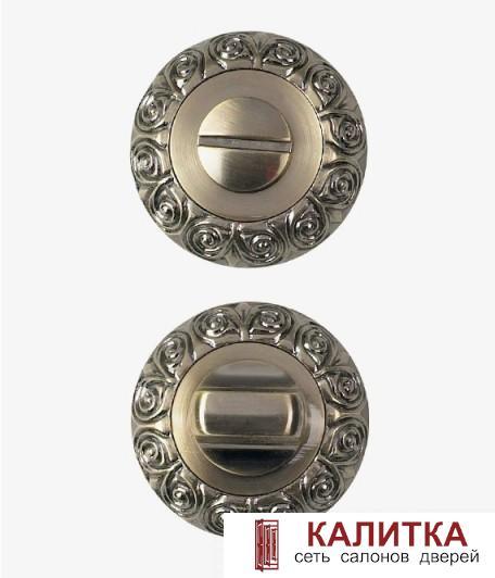 Завертка сантехническая  на круглом основании РЕЗНАЯ WC-20 ANT.BRONZE (античная бронза)