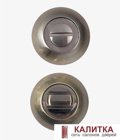 Завертка сантехническая  на круглом основании WC-10 ANT.BRONZE (античная бронза)