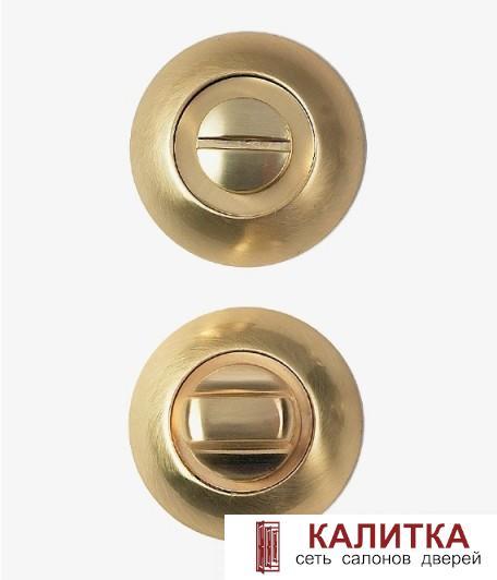Завертка сантехническая  на круглом основании WC-10 S.GOLD (золото матовое)