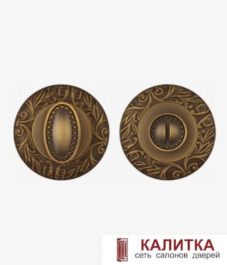 Завертка сантехническая FUARO на круглом основании BK6 SM AB-7 (матовая бронза) (VIRGINIA/MONARCH)