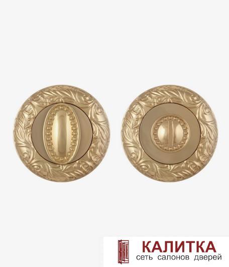 Завертка сантехническая FUARO на круглом основании BK6 SM GOLD-24 (золото)