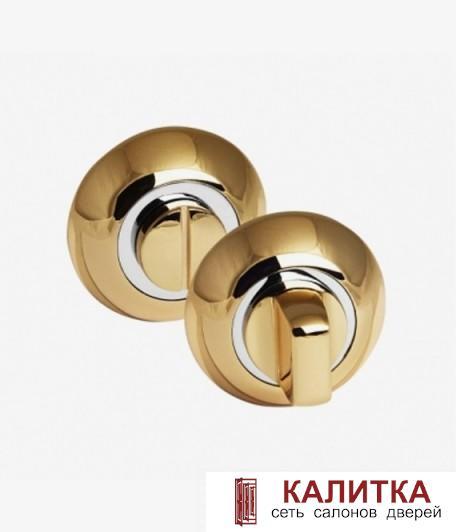 Завертка сантехническая PALIDORE на круглом основании OL PB золото