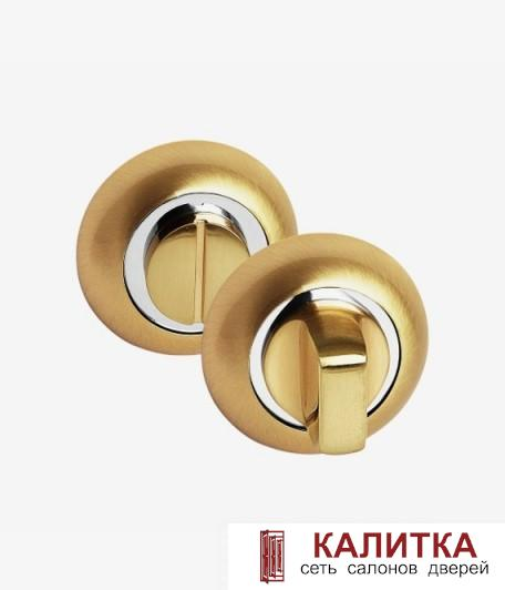 Завертка сантехническая PALIDORE на круглом основании OL SB матовое золото