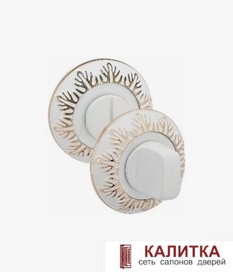Завертка сантехническая PALIDORE на круглом основании OL5 WPB белый/золото