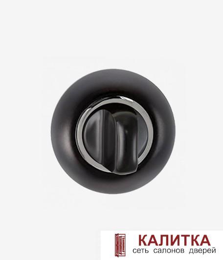 Завертка сантехническая  на круглом основании BK AL 08 B/CP черныйт/хром блестящий