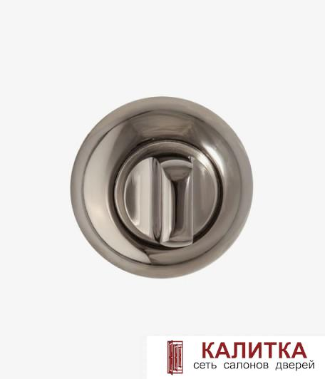 Завертка сантехническая  на круглом основании BK AL 08 BN/SN глянцевый графит/никель матовый