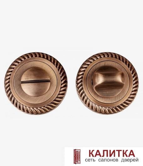 Завертка сантехническая  на круглом основании BK AL 17 AB бронза античная