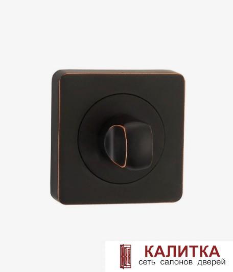 Завертка сантехническая  на квадратном основании BK AL 02 ABB матовый графит/медная патина