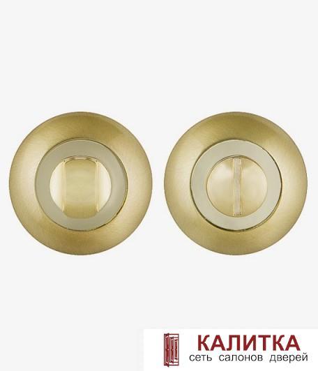 Завертка сантехническая PUNTO на круглом основании BK6 TL SG/GP-4 матовое золото/золото