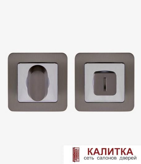 Завертка сантехническая PUNTO на квадратном основании BK6 QR GR/CP графит/хром ORION/SATURN