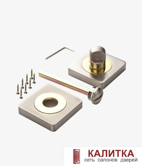 Завертка сантехническая RENZ на квадратном основании BK 02 BIG SN/GP матовый никель/золото