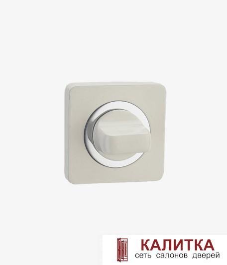 Завертка сантехническая RENZ на квадратном основании BK 02 BIG W/CP (Фиоре) белая/хром блестящий