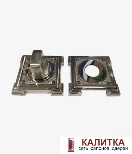 Завертка сантехническая RENZ на квадратном основании BK 19 BIG SN/NP (Валенсия) никель