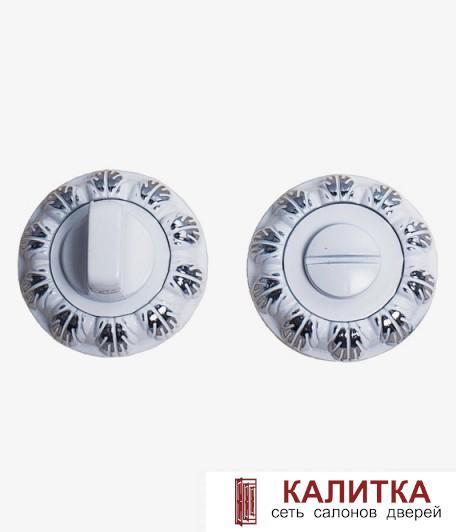 Завертка сантехническая  на круглом основании BK 04-AL (WW+CP)/WW (белый+хром/белый)