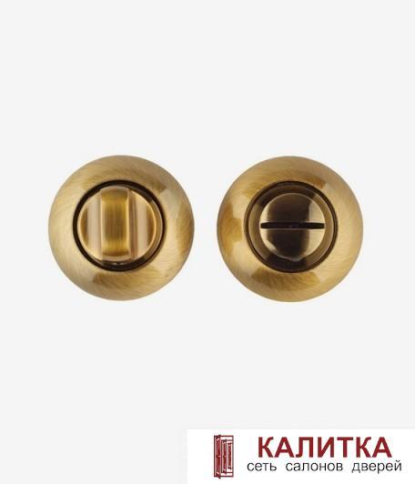 Завертка сантехническая  на круглом основании BK AL CF/CP (кофе/хром)