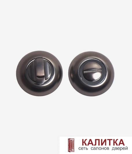 Завертка сантехническая  на круглом основании BK AL GF/CP (графит/хром)