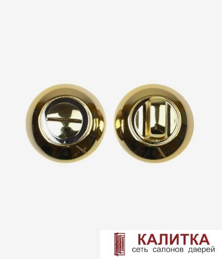 Завертка сантехническая  на круглом основании BK AL PB/CP (золото/хром)