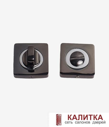 Завертка сантехническая  на квадратном основании BK 02-AL BN/CP (черный никель/хром)(бл.графит