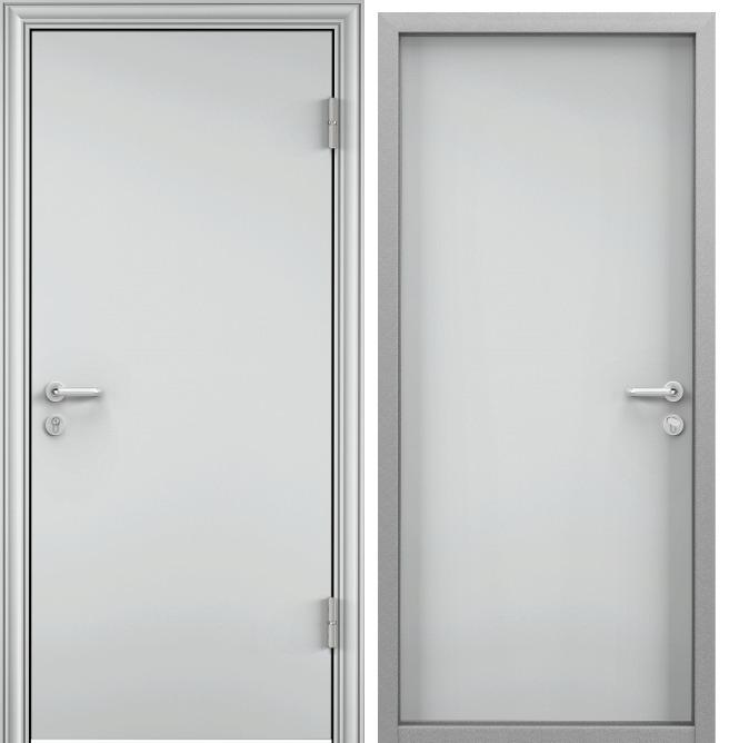 Дверь противопожарная EI 60 RAL 7035 серый / RAL 7035 серый — RAL 7035 серый — RAL 7035 серый