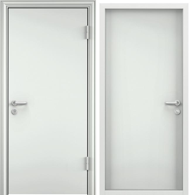 Дверь противопожарная EI 60 RAL 9016 белый / RAL 9016 белый — RAL 9016 белый — RAL 9016 белый